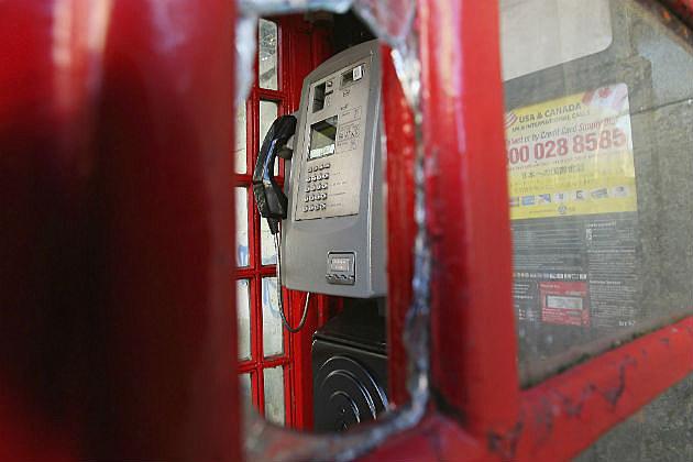 broken phone booth