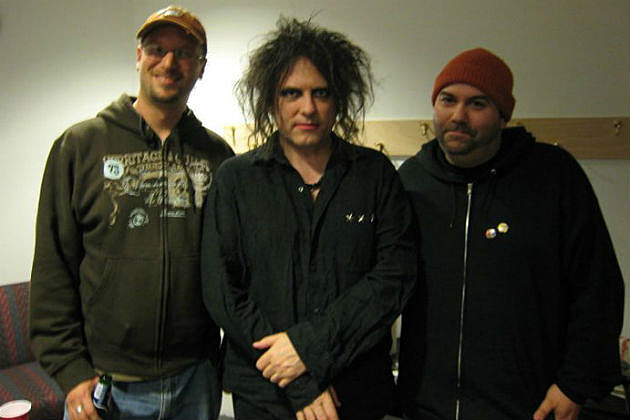 Rob and Mark with Robert Smith