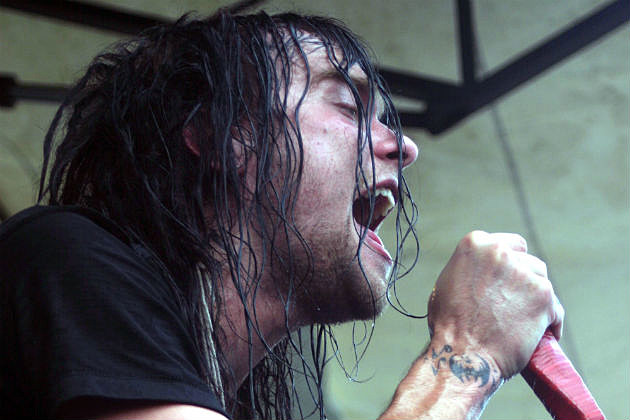 Burt from The Used on stage