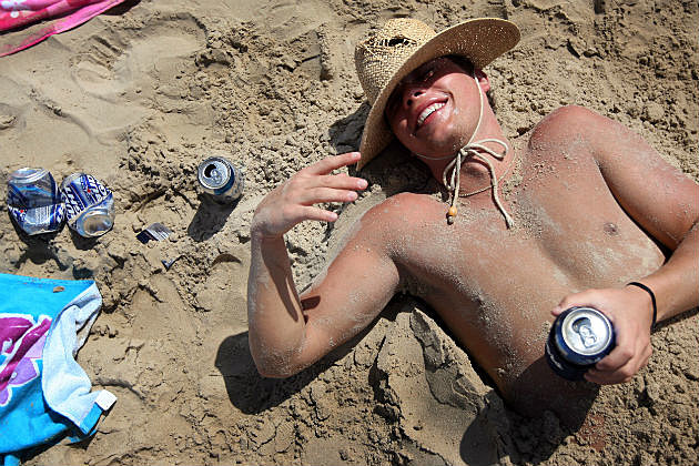 Drunk Guy on the beach