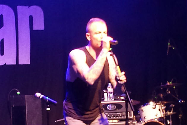 Max Collins of Eve 6 on stage