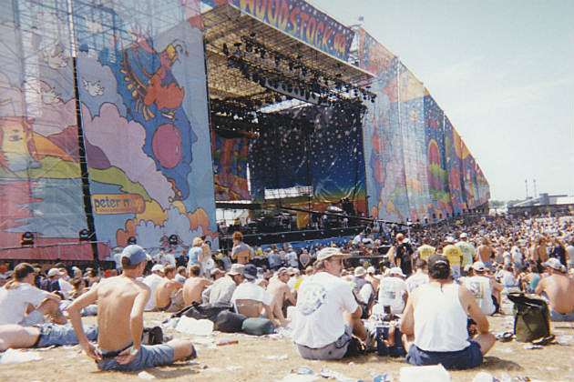 Woodstock final day stage view