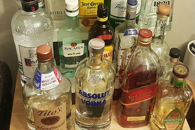 Various bottles of spirits
