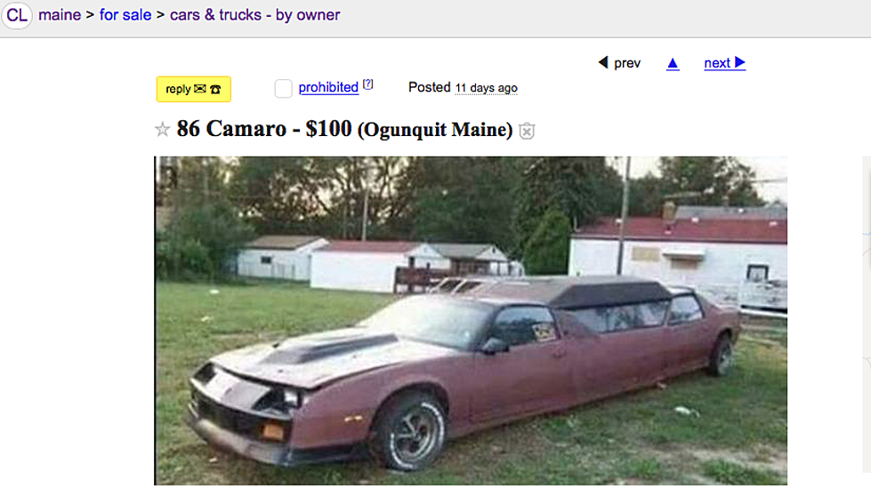 This Maine Craigslist Ad For An 86 Camaro Limo Just Can\'t Be Real
